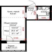 фото 1комн. квартира Барнаул ул Сергея Семенова, д. 4